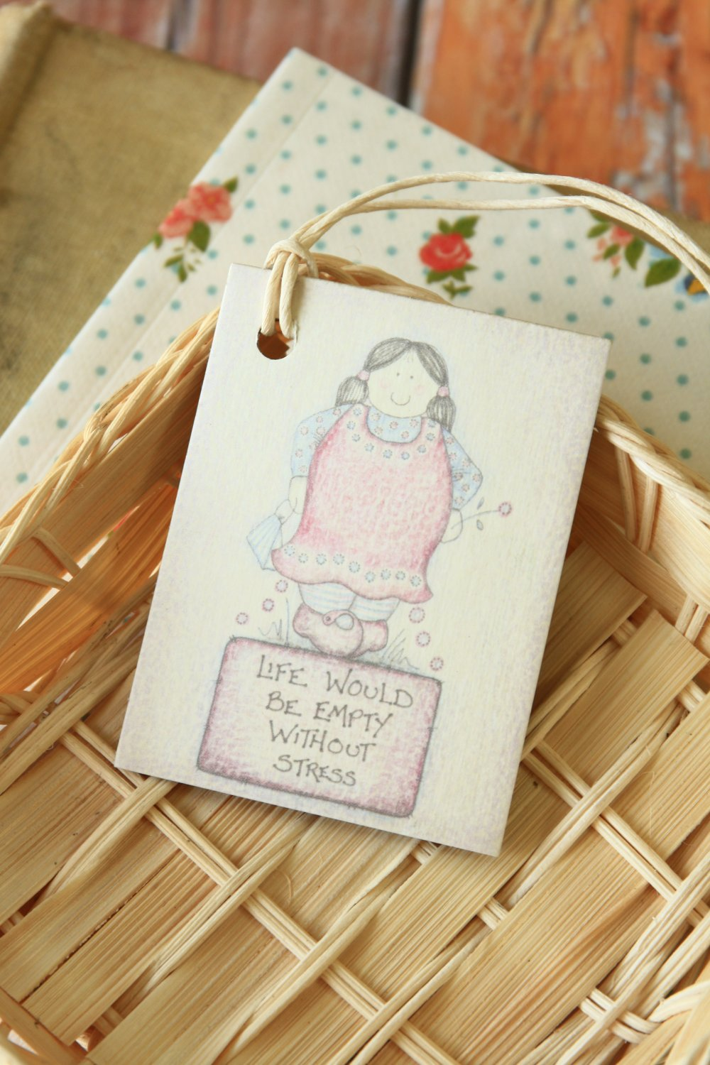 Stress East of India printed gift tags