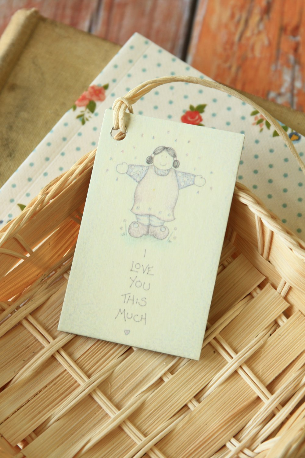I Love You East of India printed gift tags