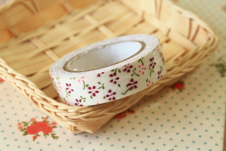 Petit Mauve Garden Flowers deco fabric tape