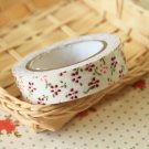 Petit Mauve Garden Flowers deco fabric tape