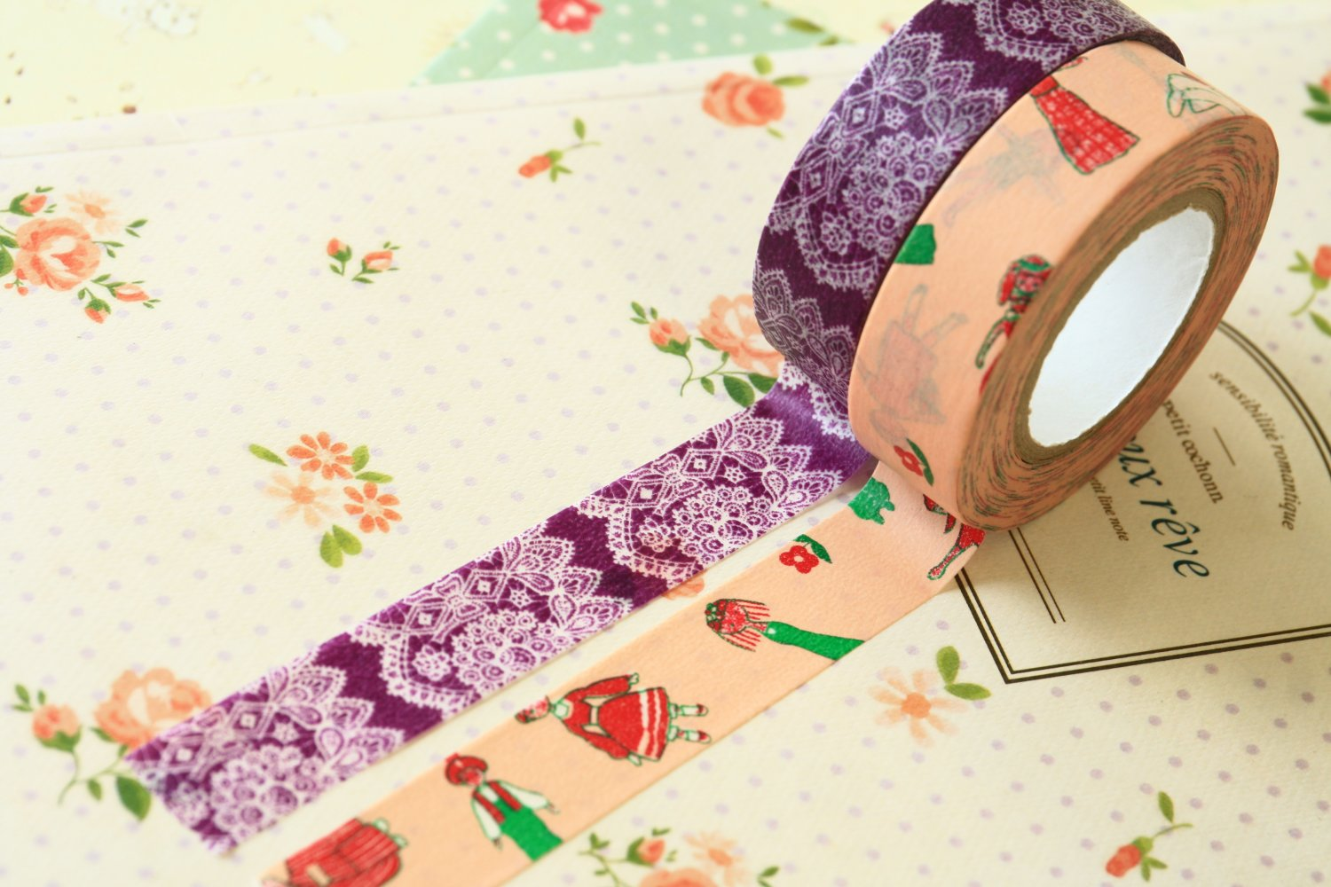 Set B Classiky Cartoon Washi Tape Set