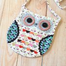 Grey Ditsy Owl Vintage Floral shoulder bag