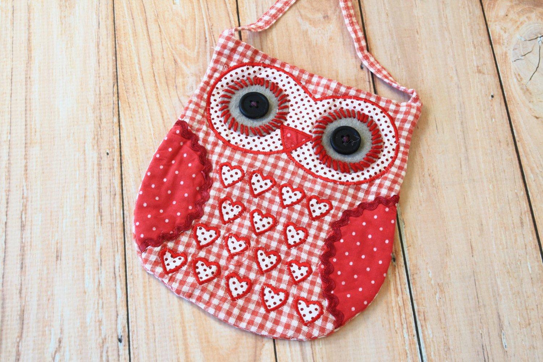 Red Heart Ditsy Owl Vintage Floral shoulder bag