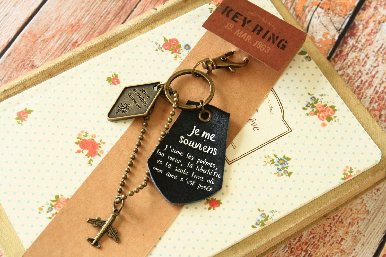Black I Remember the Memory key chain bag charm