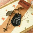 Black I Remember the Memory key chain bag charm