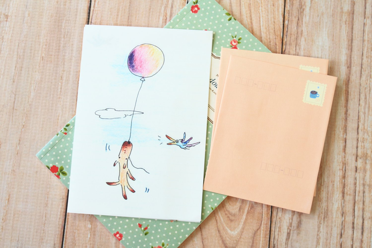 Baloon Puppy Ning Ju writing paper and envelopes letter set