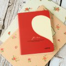 Cream Half Heart For Love cute notebook