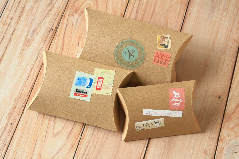Plain Kraft Brown DIY Medium pillow boxes