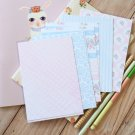 Pink Polka Dots mix floral & deco postcard blanks