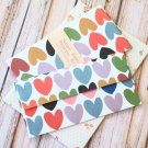 Big Hearts Natural Pattern Envelopes