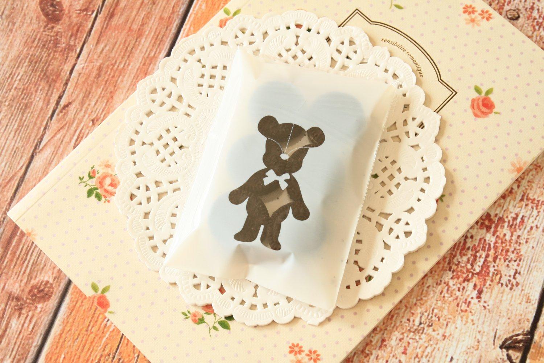 Cute Bear mini cellophane cookie bags sweets bags