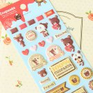 Coopanda Cookie Bear cartoon puffy stickers