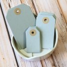 Small Silver Grey reinforced luggage gift tags