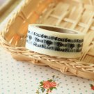 Follow Your Heart East of India masking paper tape