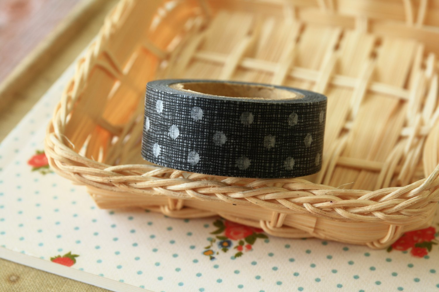 Black Dots East of India masking paper tape