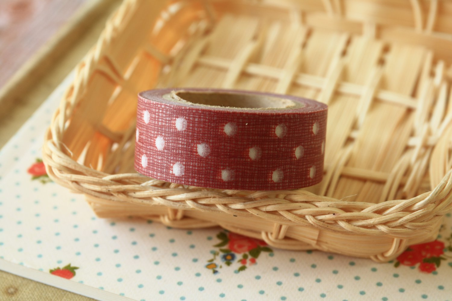 Red Dots East of India masking paper tape