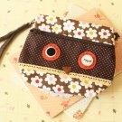 Owl Vintage Floral wristlet clutch purse