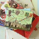 Palace & Big Ben Vintage Travel cartoon Memo notepad