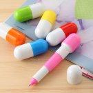 Yellow Capsule Pill Pen colorful cartoon ballpen