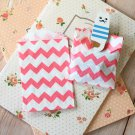 Hot Pink Chevron Itty Bitty Bags small paper bags