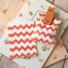 Orange Chevron Itty Bitty Bags small paper bags
