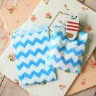 Aqua Blue Chevron Itty Bitty Bags small paper bags