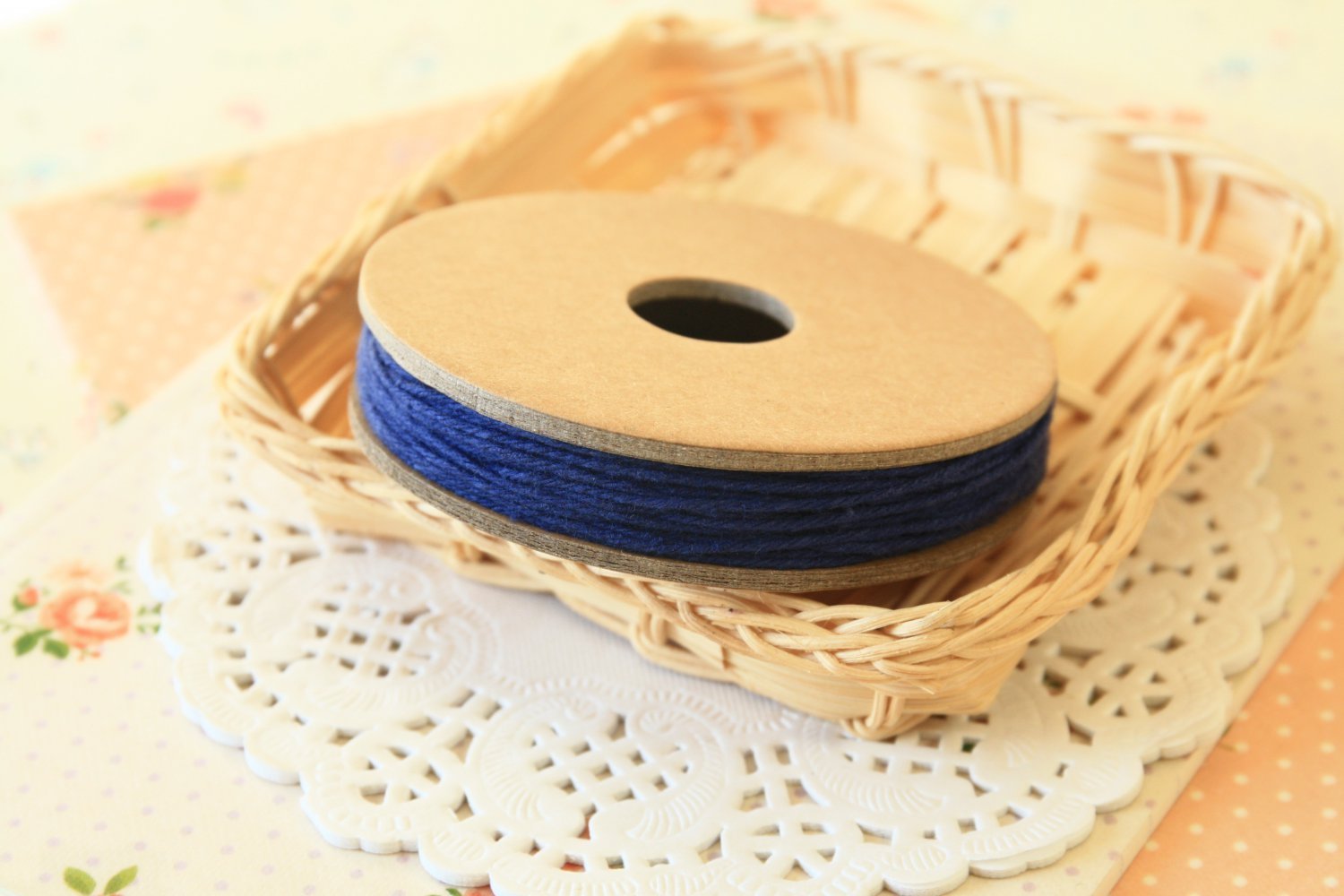 Navy Blue Solid Divine Twine 20yd string spool