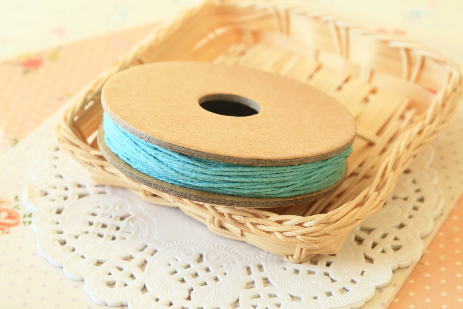 Teal Blue Solid Divine Twine 20yd string spool