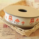 Matryoshka Mushroom cartoon cotton sewing tape ribbon
