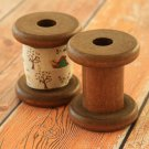 Small vintage style wooden spools