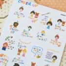 Okaytina cartoon stamp stickers