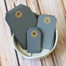 Small Mid Grey reinforced luggage gift tags