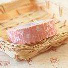 Pink Flowers Classiky Ten to Sen Cartoon Washi Tape Set