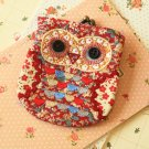 Roxie Ditsy Owl Vintage Floral Clasp Purse