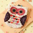 Pink Ditsy Owl Vintage Floral Clasp Purse
