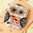Dave Ditsy Owl Vintage Floral Clasp Purse