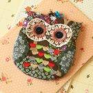 Sylvester Ditsy Owl Vintage Floral Clasp Purse