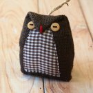 Jute Brown Owl ornament