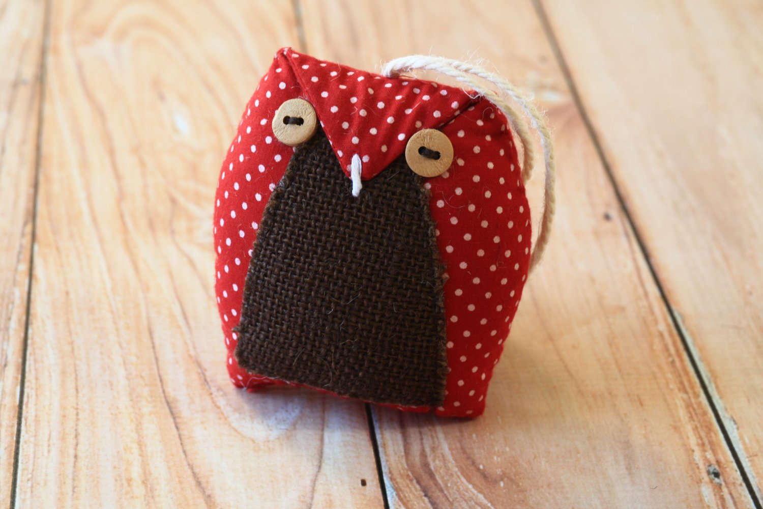Red Polka Dot Owl ornament