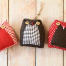 3pc Mix Set Owl ornaments