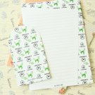 Green Hornet Black & White writing paper and envelopes letter set