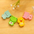 Cartoon Animals Mini Erasers Set