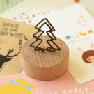 Tree Wood Memo Clip Card Holder
