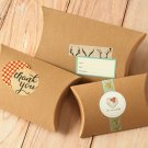 Textured Kraft Brown DIY Medium pillow boxes