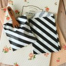 Black Stripe Itty Bitty Bags small paper bags