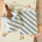 Grey Stripe Itty Bitty Bags small paper bags