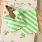 Green Stripe Itty Bitty Bags small paper bags