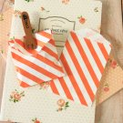 Orange Stripe Itty Bitty Bags small paper bags