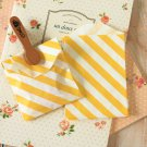 Yellow Stripe Itty Bitty Bags small paper bags