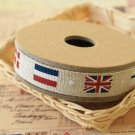 Country Flags cotton linen sewing tape ribbon